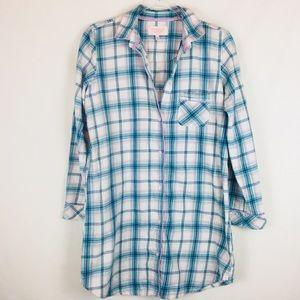 Victoria's Secret   Cozy Flannel Sleep Shirt Small